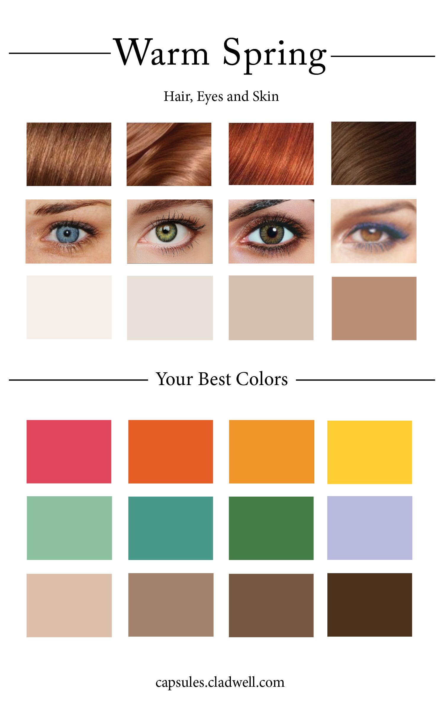 How To Create Your Personal Color Palette Plus Take Our Color Quiz Cladwell Color Quiz Autumn Skin Soft Autumn,Cheapest City To Buy A House In Georgia