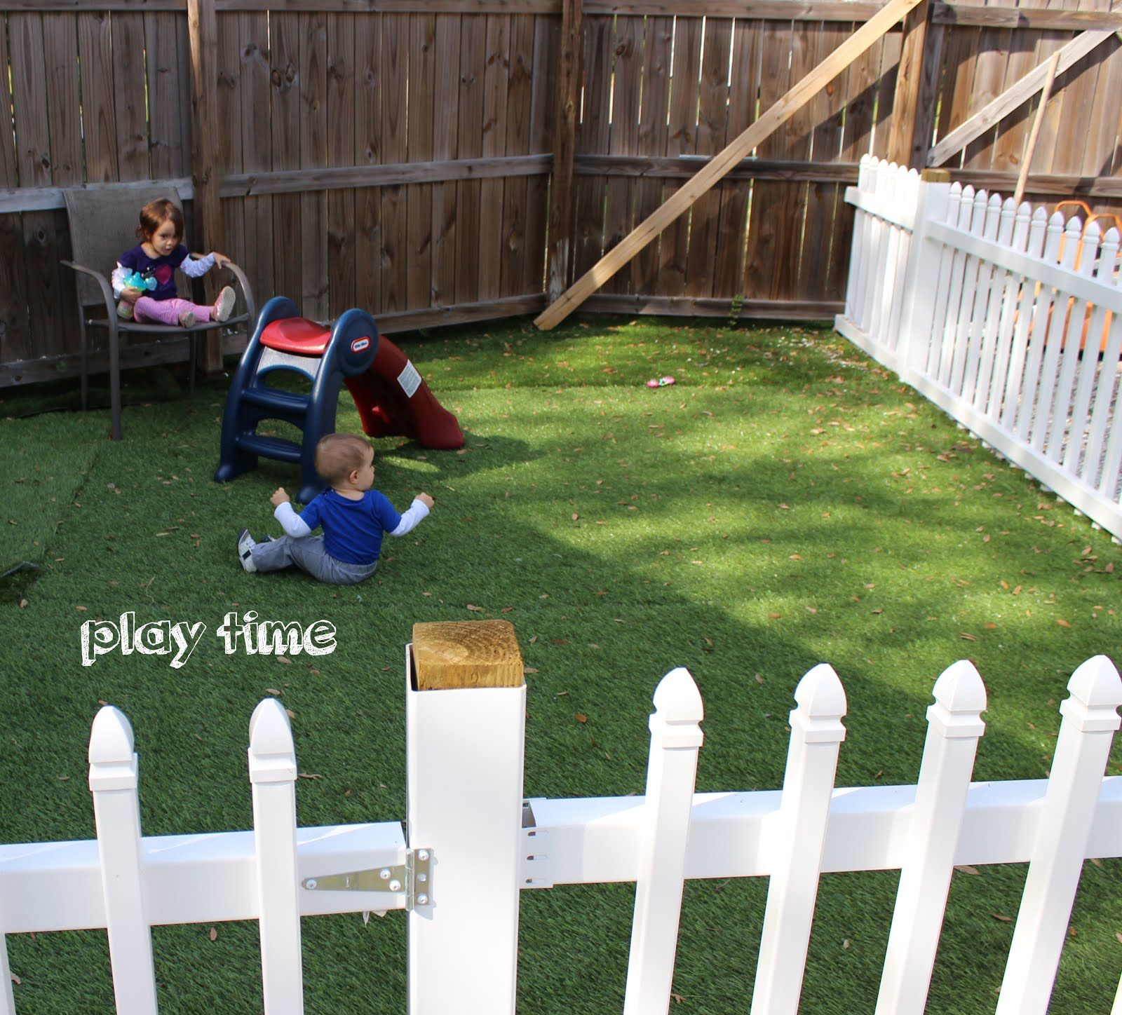Like How Its Gated Off And Has A Designated Spot For Playing DIY Astroturf  Play Area