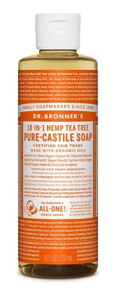 Baby Food | Organic Food | Hair Dye | Gluten Free | Skin Care | Health Food | Natural | Wine | Supplement - Dr. Bronner's - Organic Tea-Tree Liquid Soap (8 oz) 公平貿易 有機 茶樹皂液 - WelSpring