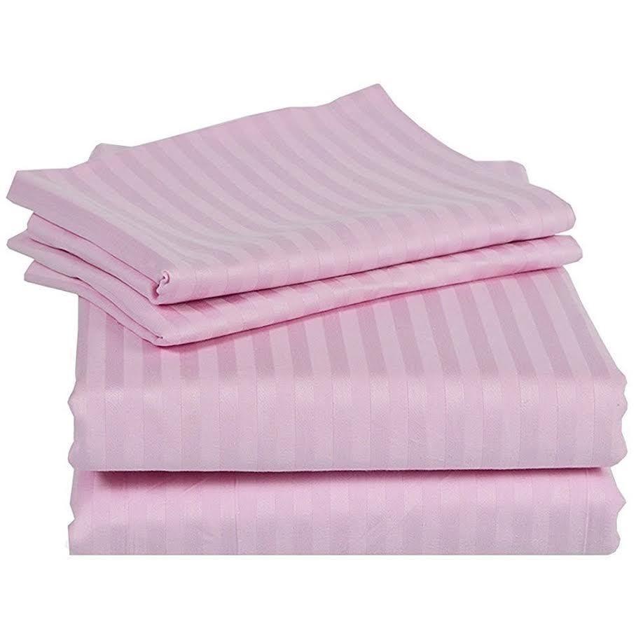 rv bunk and tailor sheet set 4 pcs egyptian cotton drop 15 inch pink
