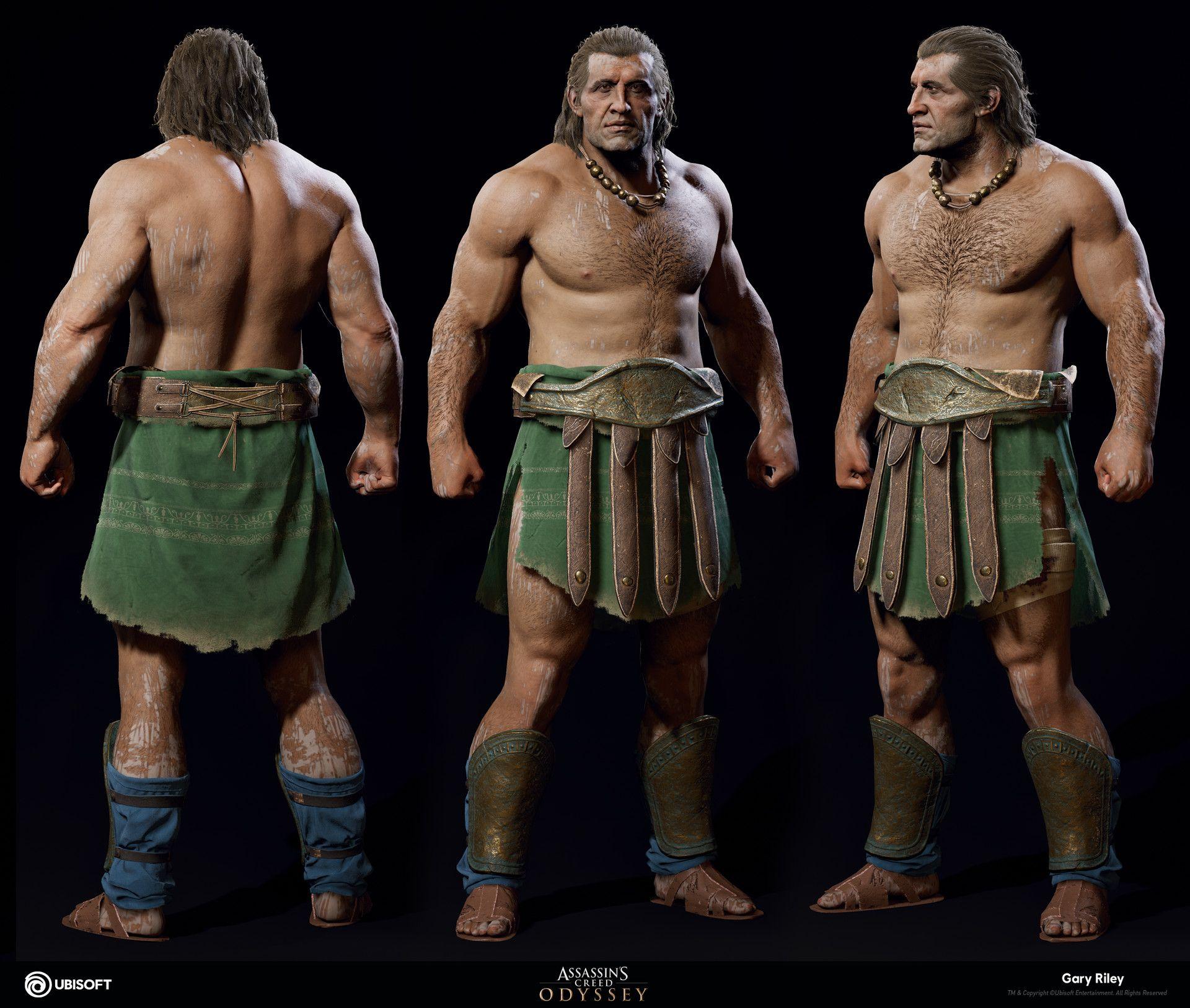 Artstation Brute Body Assassin S Creed Odyssey Gary Riley