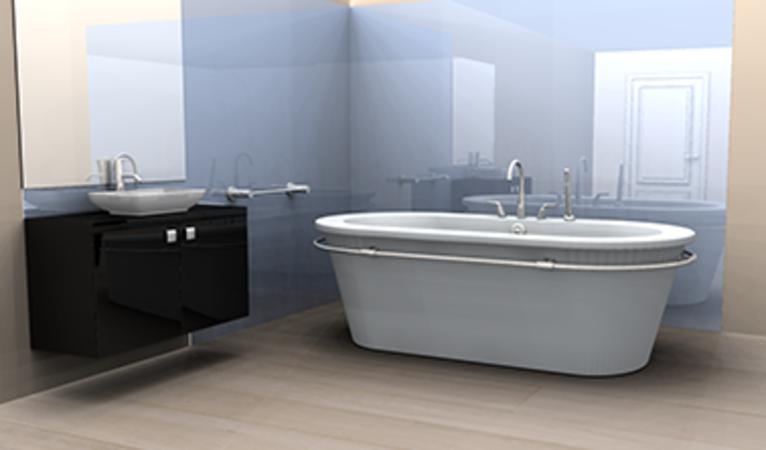 Acrylic bathroom wall panel - Sunlight Deco   Family Bathroom ...