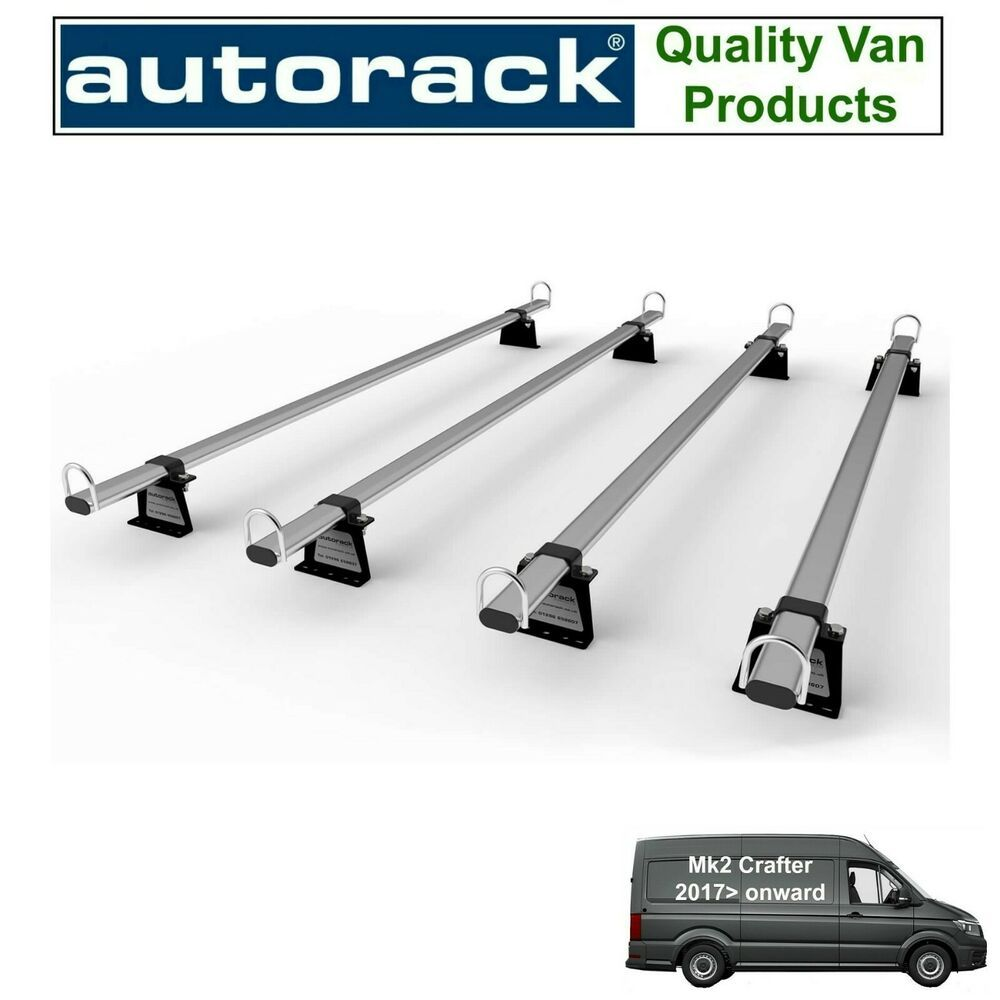 Van Roof Rack 4 Bars For Mk2 Vw Crafter 2017 Onward Autorack Workready Racks Autorack Van Roof Racks Roof Rack Vw Crafter