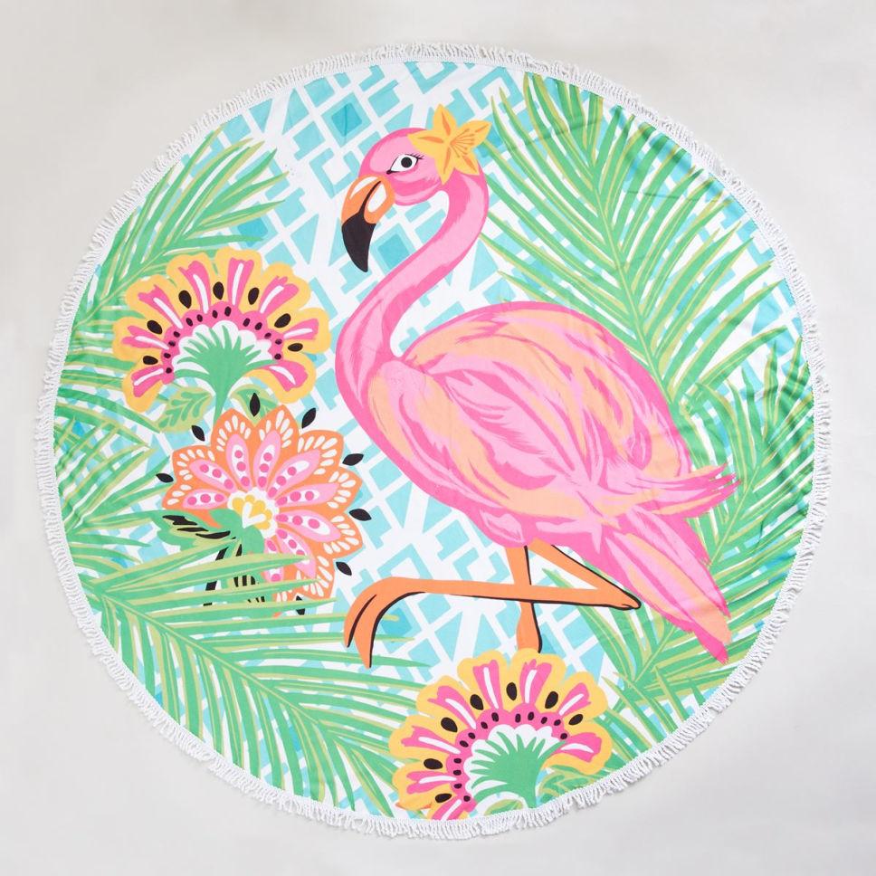 Round Flamingo Beach Towel Flamingo Beach Towel Flamingo Beach