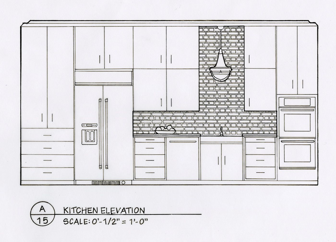 I Designed And Hand Drafted These Spaces For A Residential