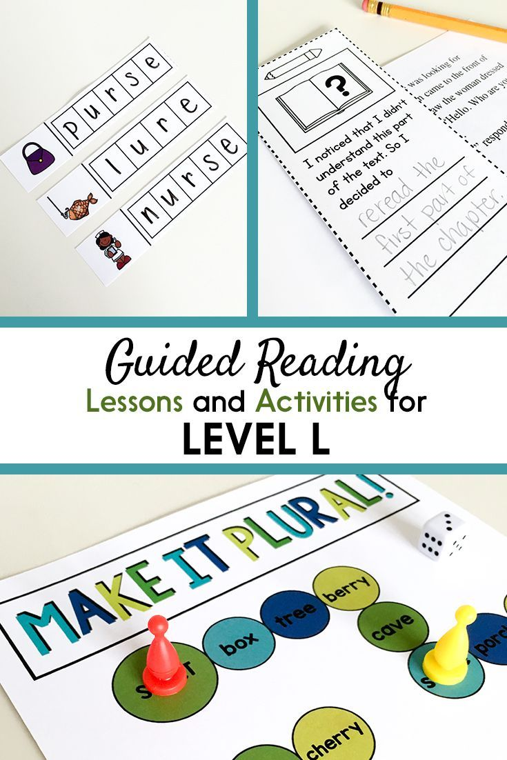 Guided Reading Activities and Lesson Plans for Level L ...