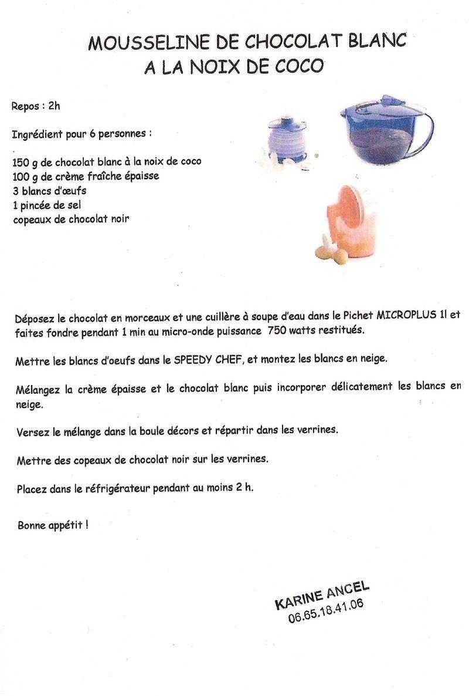 recette tupperware