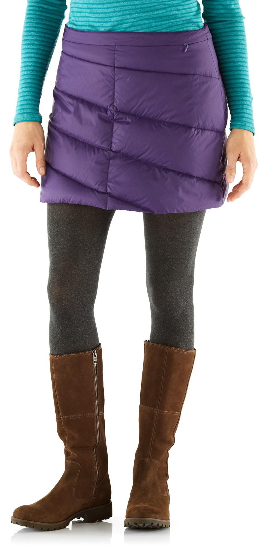 b58a74d81 At REI Outlet: Cordillera Snow Flurry Down Skirt—rock the apres ski look!