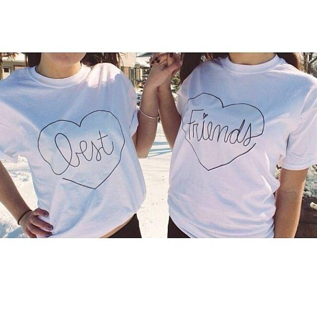 722c064aa7e Best friend tshirts DIY | Fashion ♡ | Best friend t shirts, Bff ...