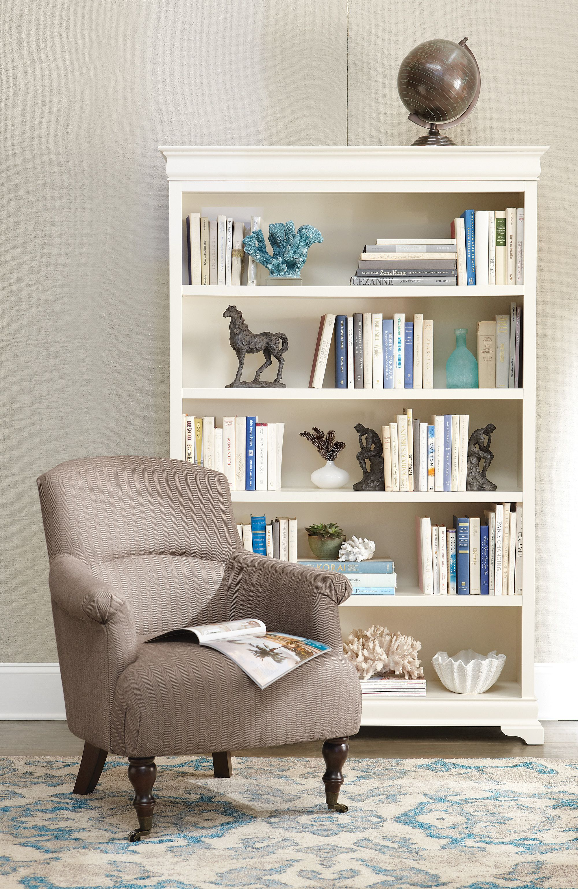 Louis Philippe Open Bookcase: Our Kind Of Bookcase. A Polar White Finish Acts As The
