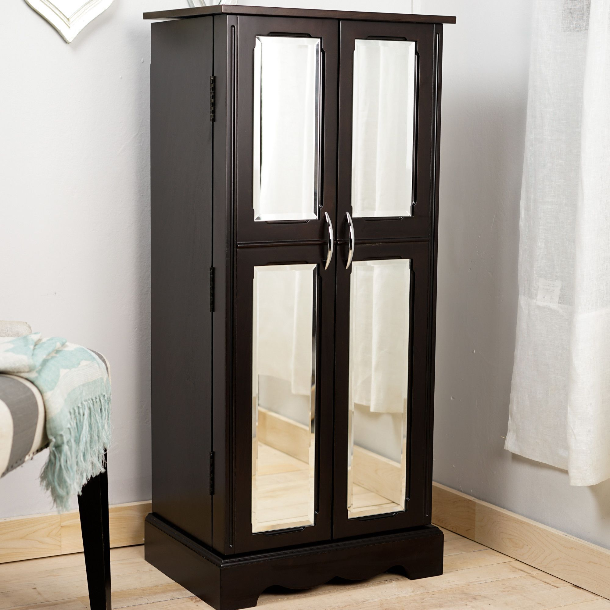 Chelsea Jewelry Armoire with Mirror …