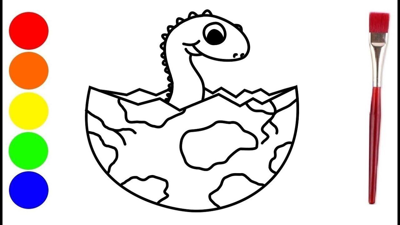 Baby Dino In Ei Tekenen Voor Kinderen Kleurplaten En Schilderen Hoe Tekenen Voor Kinderen Voor Kinderen Kleurplaten