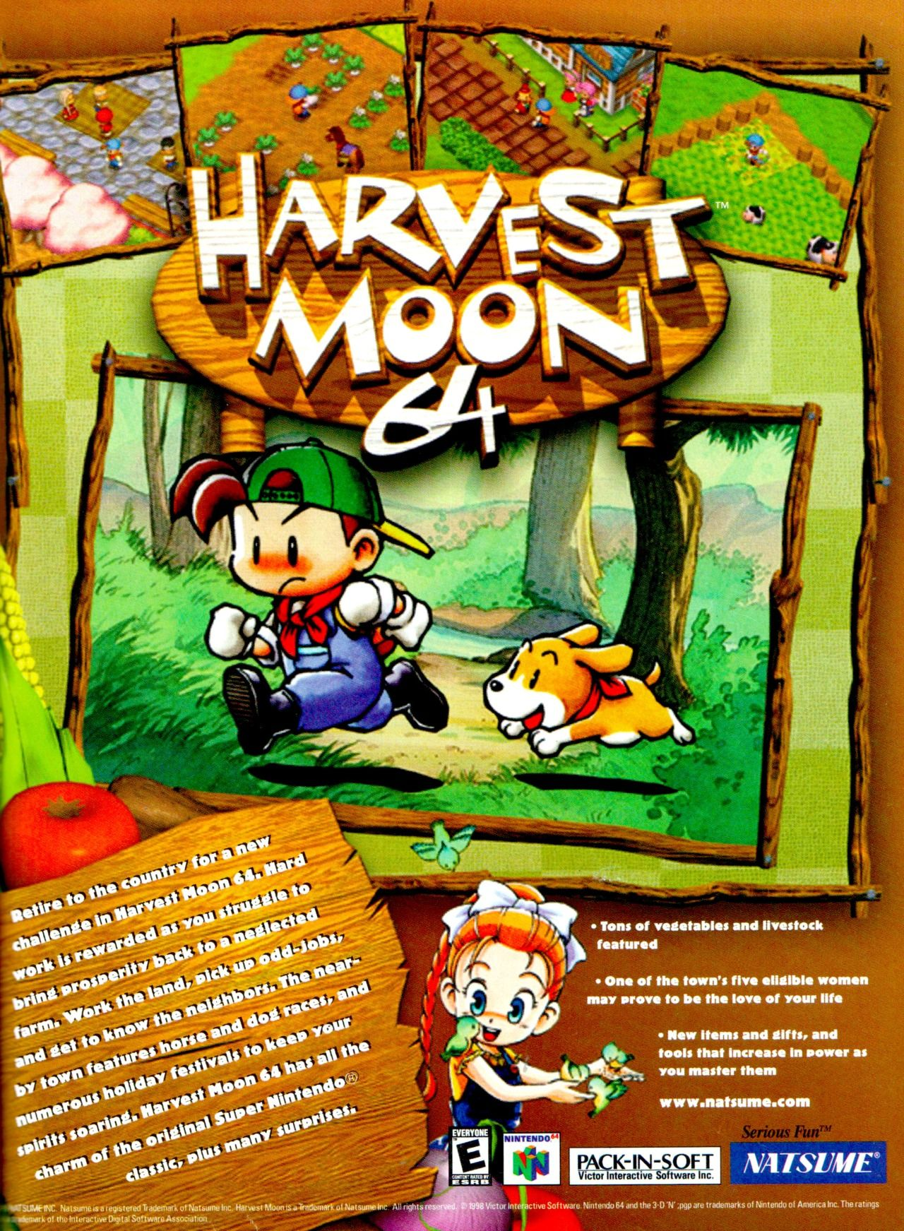 Harvest Moon 64 (1999) Harvest moon 64, Harvest moon
