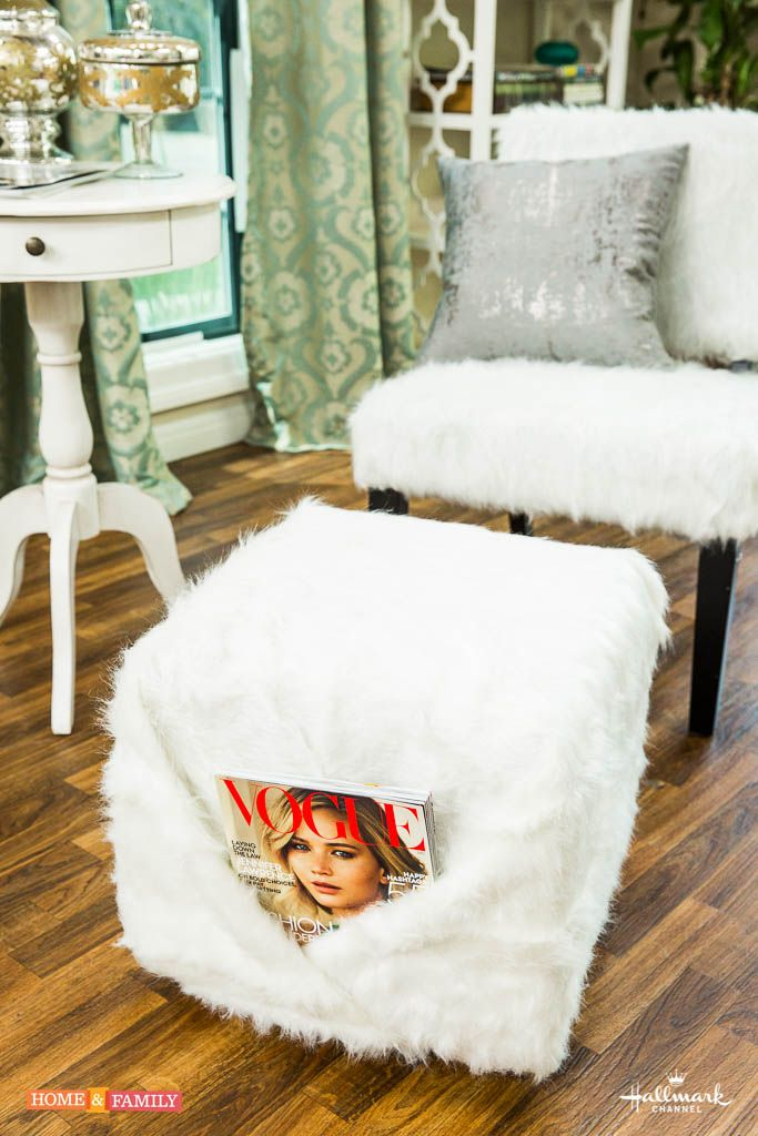 Home Family Paige Hemmis Is Making A Diy Faux Fur Chair And Ottoman