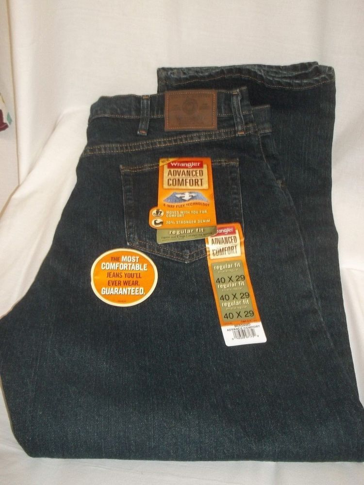 e3393055 NWT Wrangler Premium Men s Denim Jeans Advanced Comfort Regular Fit Size  40x29 #wranglers #mensfashion #40x29