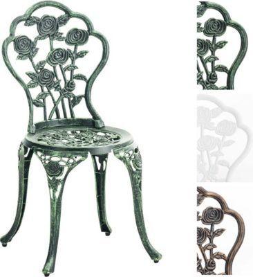 Stuhl SHARMA, Gartenstuhl Eisen, Metallstuhl aus Aluminium-Guss ...