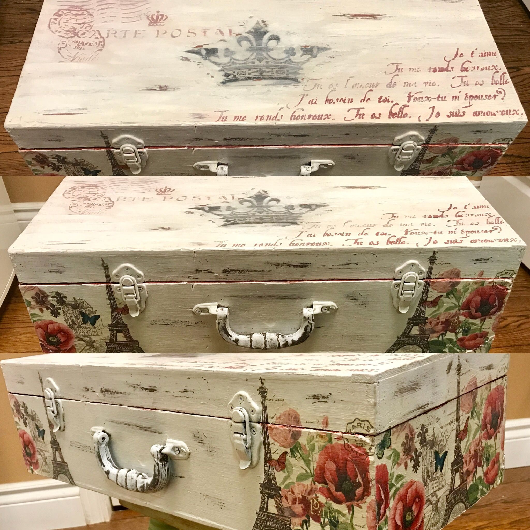 Old wooden tool box turned beautiful treasure chest Painted