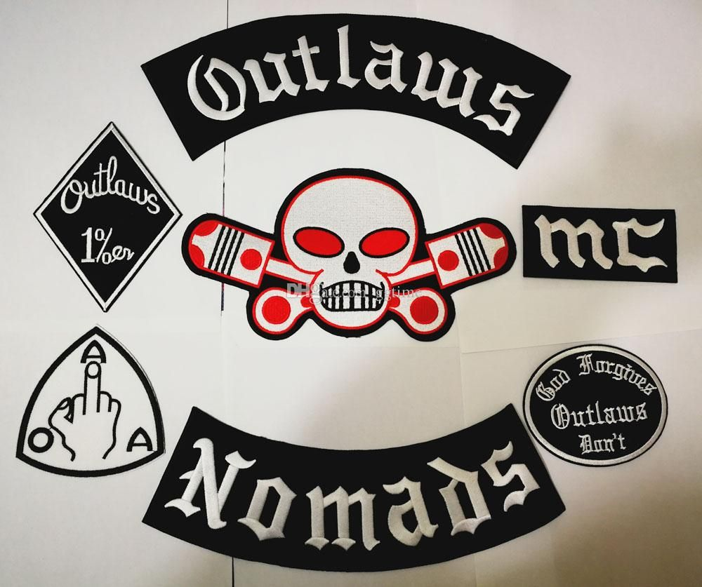 Patches Pagans Motorcycle iron on Biker Rider Vest MC Embroidered Back Jacket