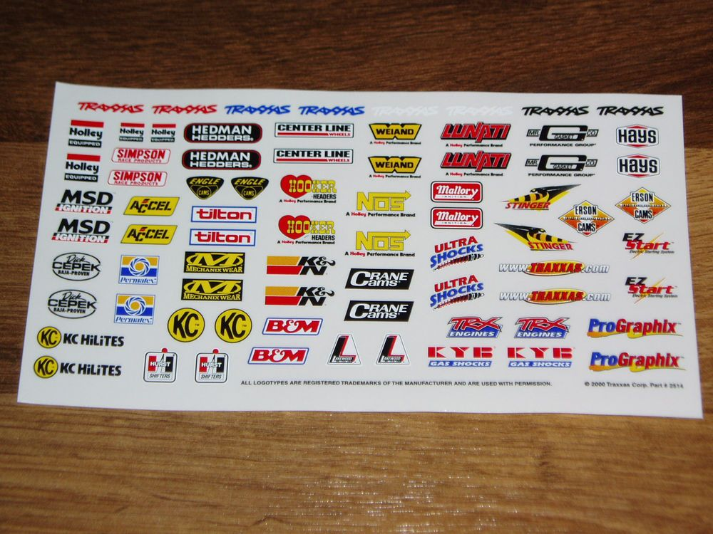Details about 1/10 1/8 scale DECAL/STICKER SHEET RC/MODEL