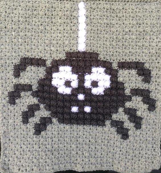 SPRE: Patterns & Design: Crochet Spider Square! 9 squares including ghost, Jacko lantern, etc.