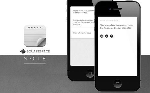 Squarespace Note  Website :http://www.squarespace.com/apps/#note  iTunes :https://itunes.apple.com/fr/app/squarespace-note/id561237934?mt=8%3Buo=2=1703650