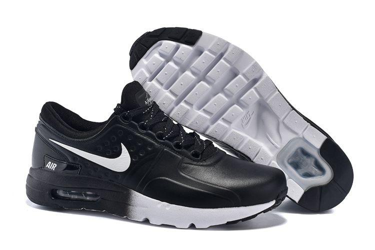 quality design 39d47 6437f Goedkopen Air Max Zero QS Leer Herenschoen ZwartWit Nike789695020