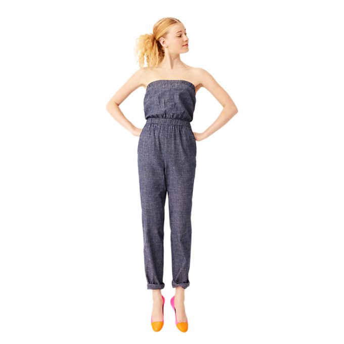 Jump-Around Jumpsuit in Chambray