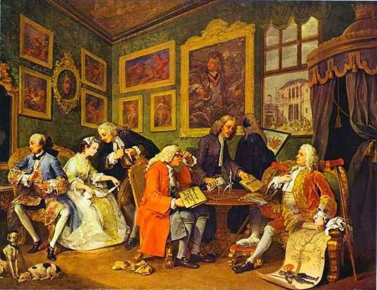 El Matrimonio A La Moda El Contrato William Hogarth Imagens