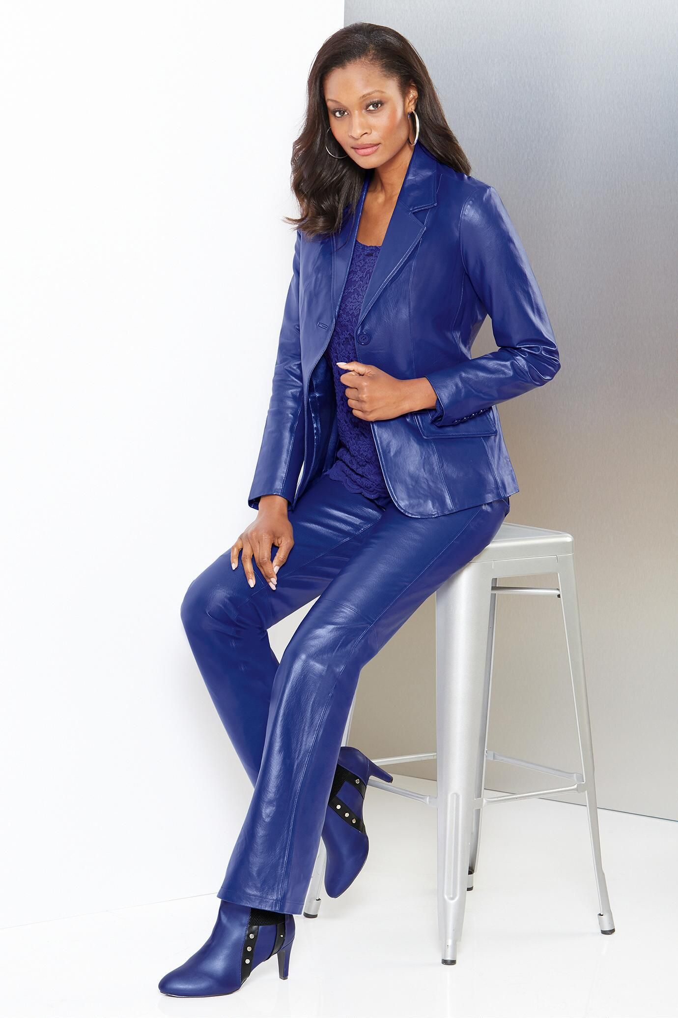 Women S Leather Pant Suits