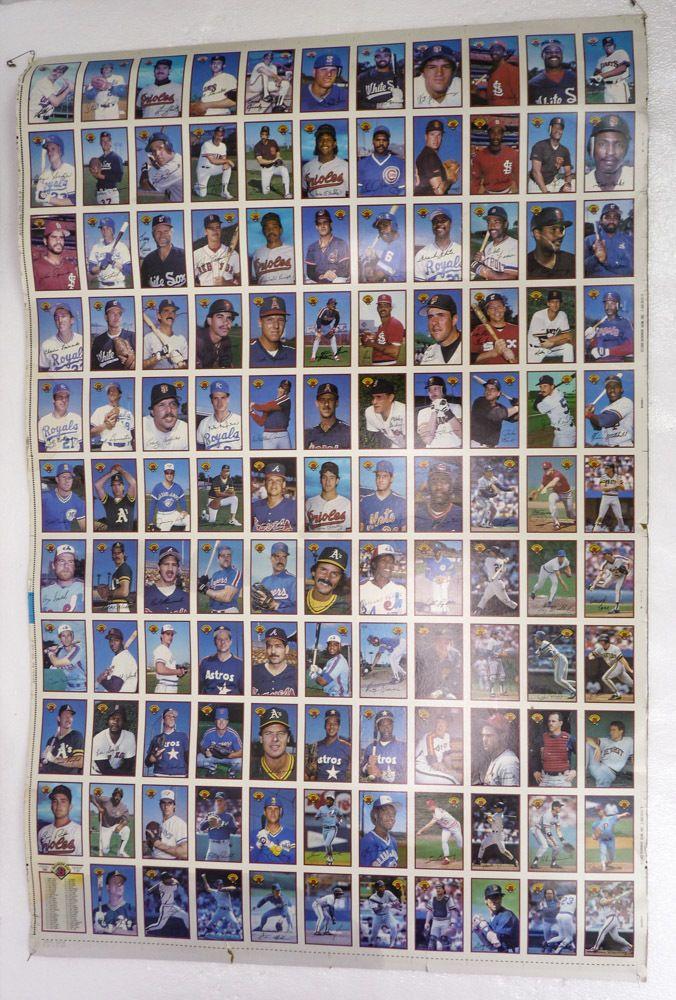 1989 Bowman Gum Rare Full Sheet 121 Uncut Baseball Trading Cards