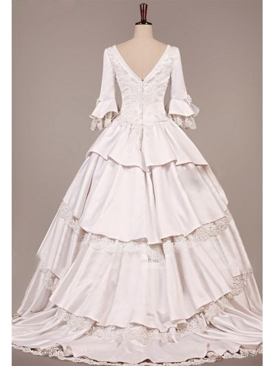 Vintage Victorian Wedding Dress -------I wish I could see the front ...