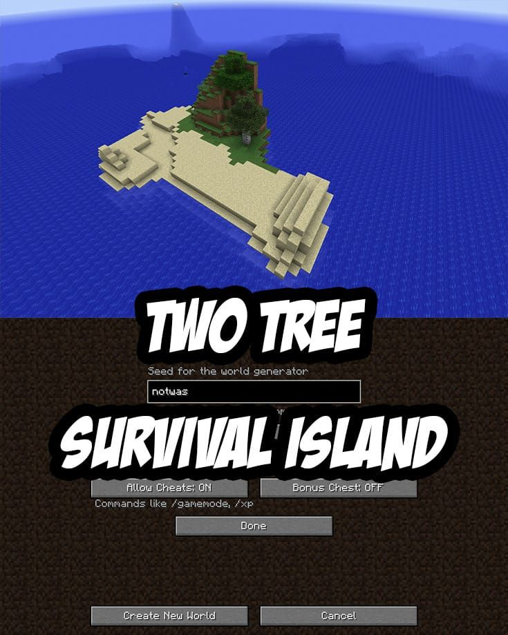 Minecraft PC/Mac Survival Island Seed:notwas | Minecraft