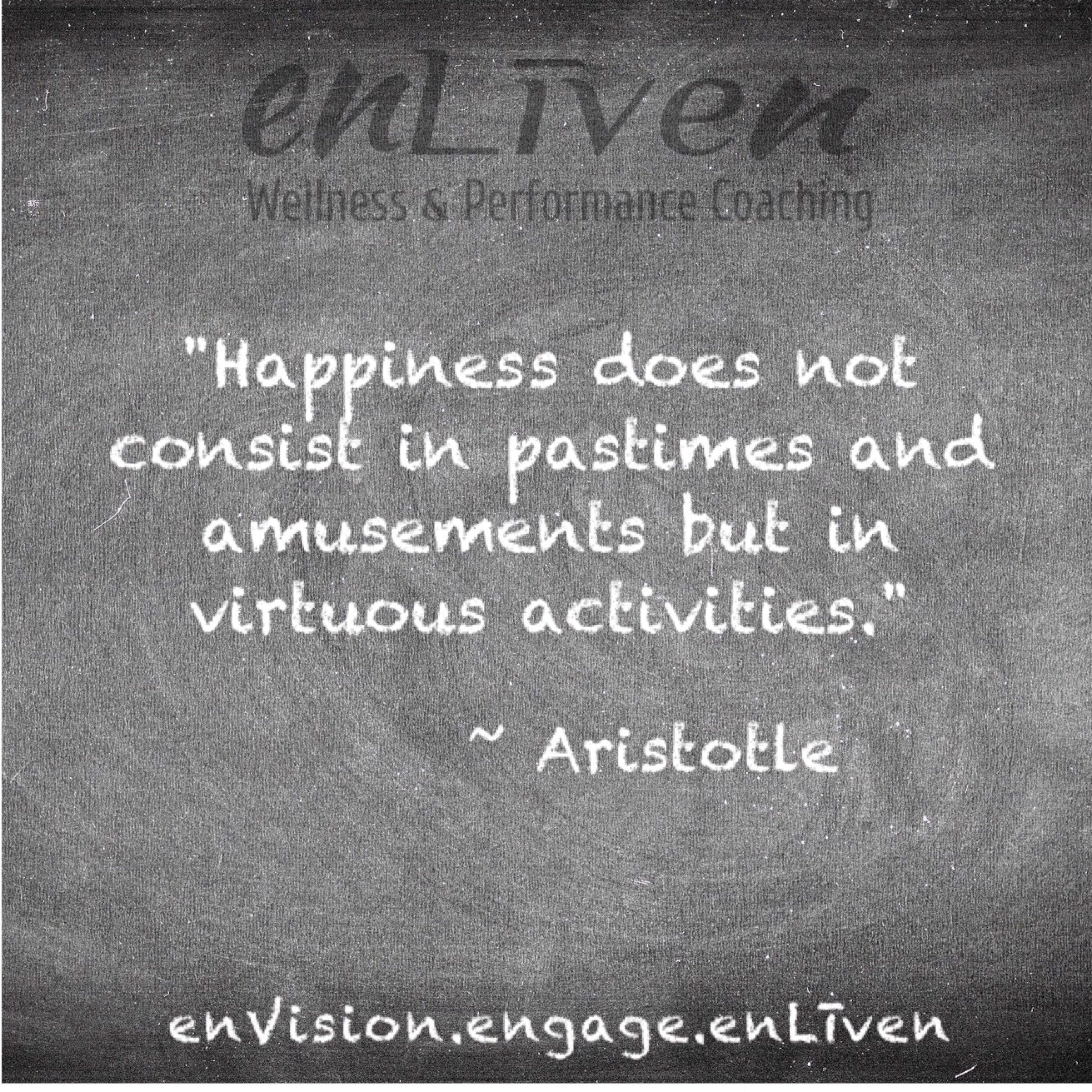 Quote on enLiven Wellness Life Coaching chalkboard reading
