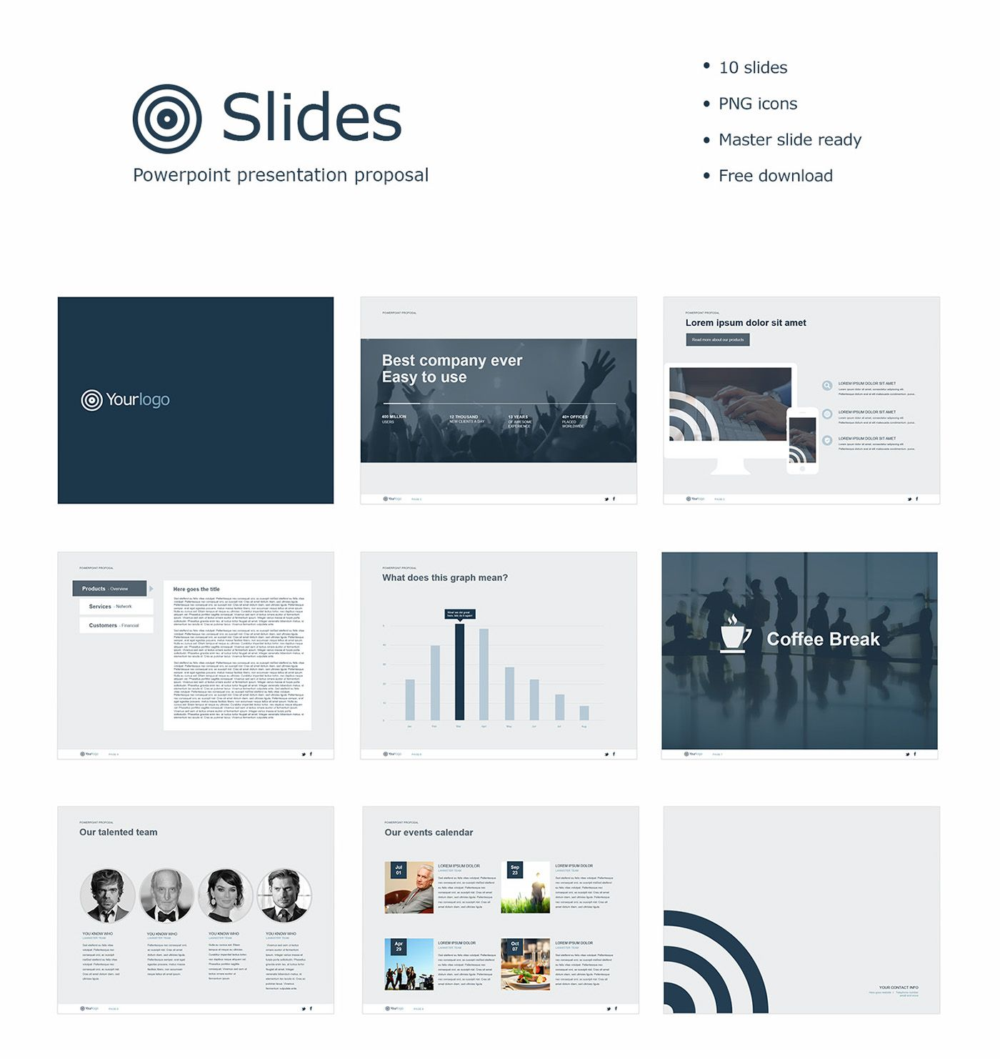 Powerpoint Template For Company Presentation Feel Free To Use