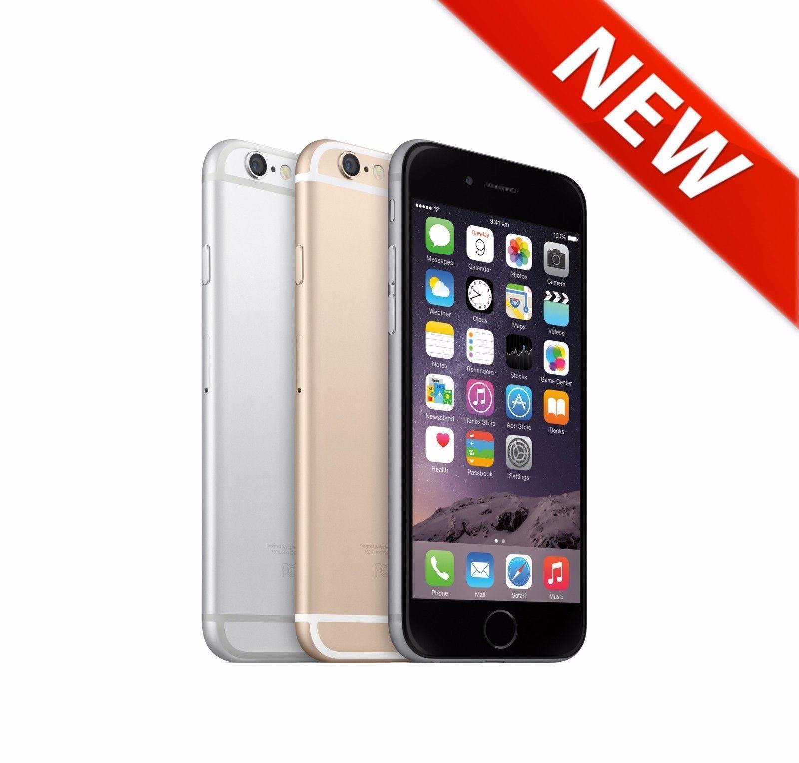 New Apple iphone 6 16GB 64GB 128GB Unlocked 4G LTE Gold Silver Grey Smartphone