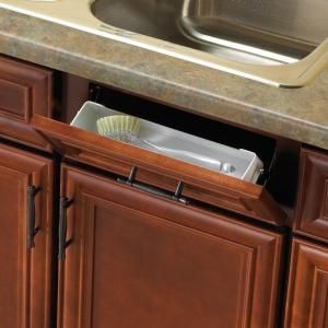 White Sink Front Tray With Scissor Hinges Cabinet Organizer
