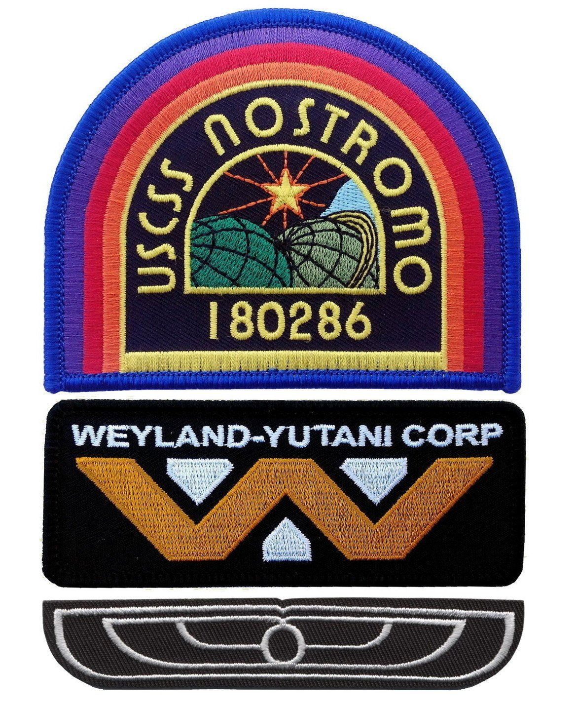 Alien Weyland-Yutani Wing Uniform 3 Inch Wide Embroidered Iron On Movie Patch