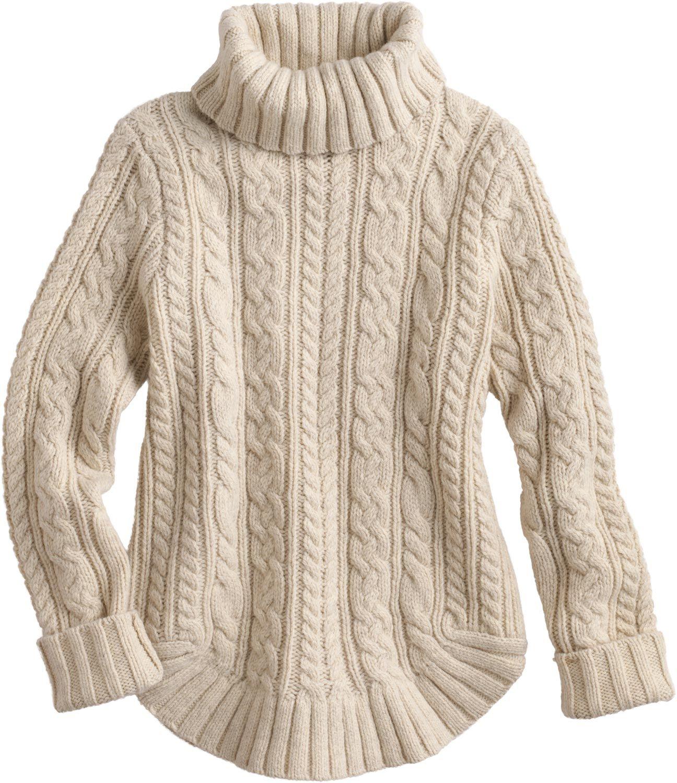 78282f366 Women s Fisherman Turtleneck Sweater IVORY XLG