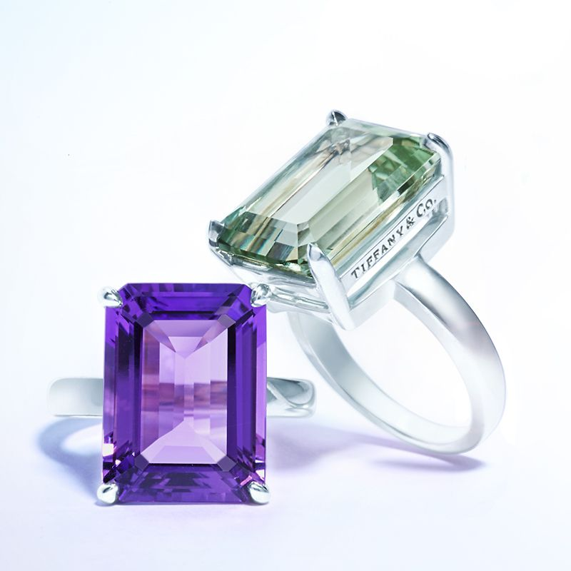 b4f1e431f Tiffany Sparklers rings in sterling silver, from left: amethyst and green  quartz. #TiffanyPinterest