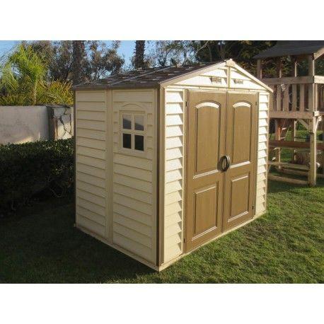 abri de jardin en pvc woodstyle premium 4 13m duramax. Black Bedroom Furniture Sets. Home Design Ideas