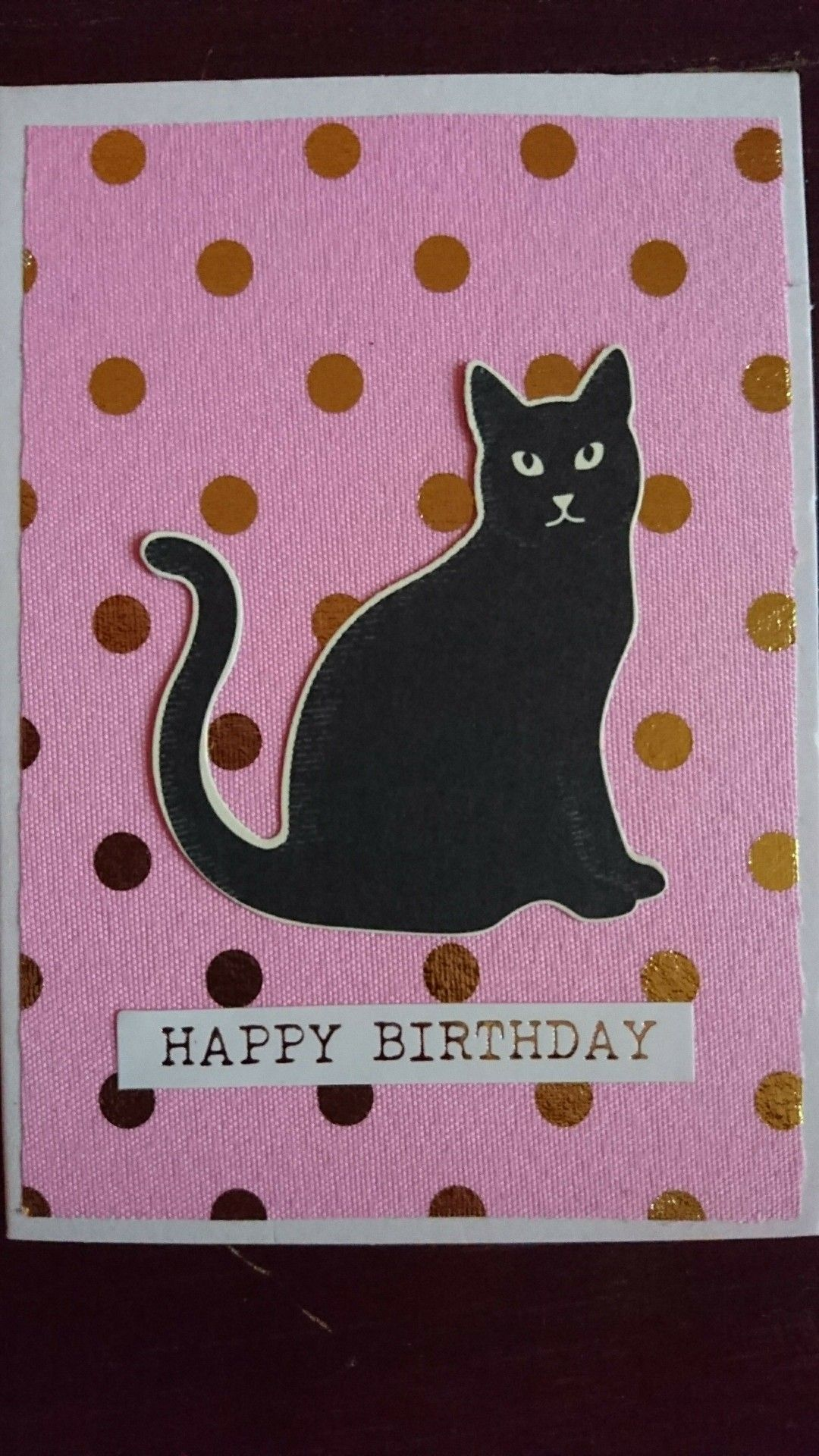 Made By Me Birthday Card Stampin Up Cat Punch Cinniecreatie