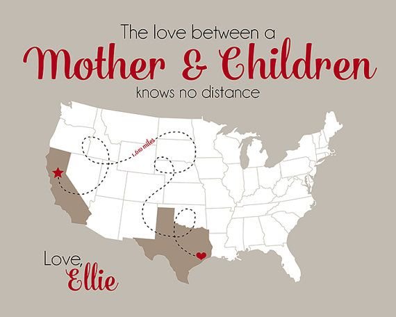 Special Mom And Daughter Gift Long Distance Mother Family Miles