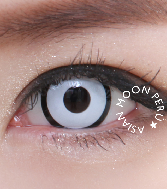 48299460aa Circle Lens | Lentes De Contacto Blancos Halloween Asianmoon - S/. 100,00