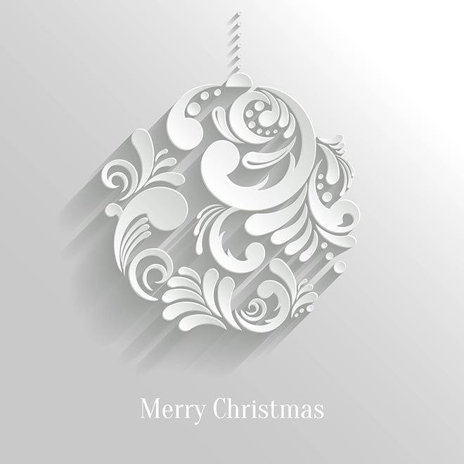 Free Vector Beautiful Artistic Art Work 3d Christmas Floral Art Ball Invitation Card Template Christmas Background Vector Paper Floral Christmas Graphic Design