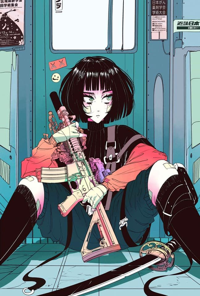 Vinne Creates Eye Catching Japanese Cyberpunk Art — Visual Atelier 8