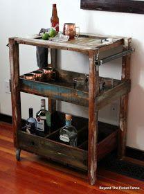 How To Build A Rustic Bar Cart Http Goo Gl