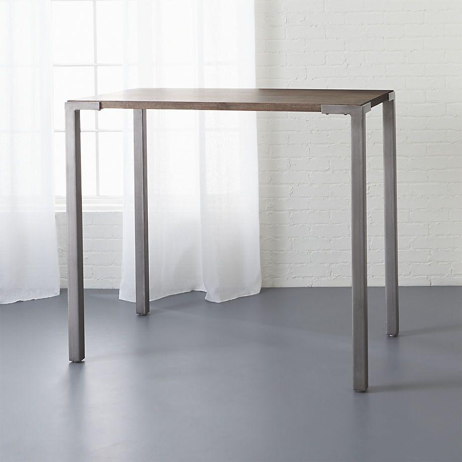 "stilt 42"" high dining table CB2 Hit the Bar"