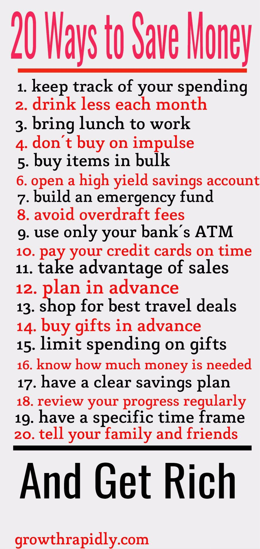 20 Smart Ways to Save Your Money - GrowthRapidly