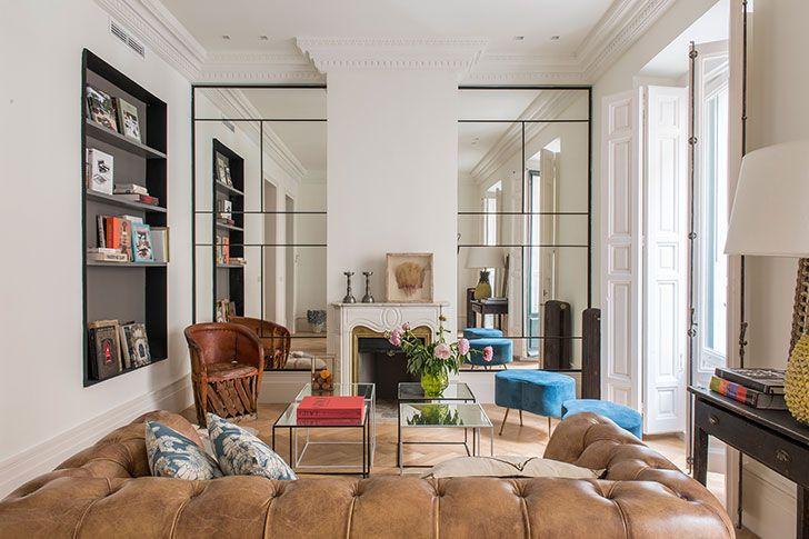 Современный дизайн с винтажным декором в Мадриде Living rooms and Room - interieur design studio luis bustamente