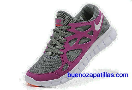 the best attitude 99bfa d7add Mujer Nike Free Run 2 Zapatillas (color  vamp - purpura, gris , en